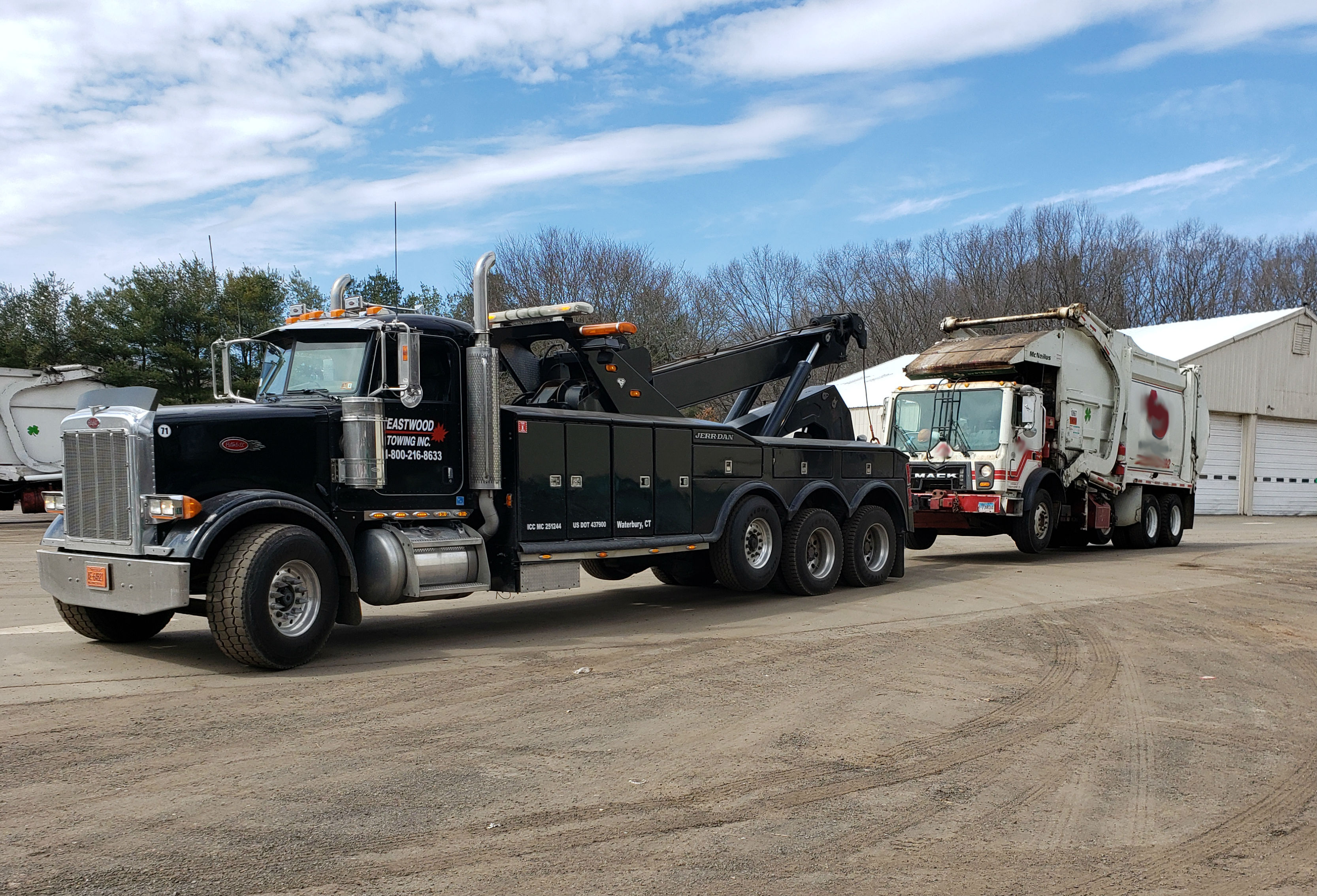 Eastwood Towing Garbage Truck Towing Heavy Duty